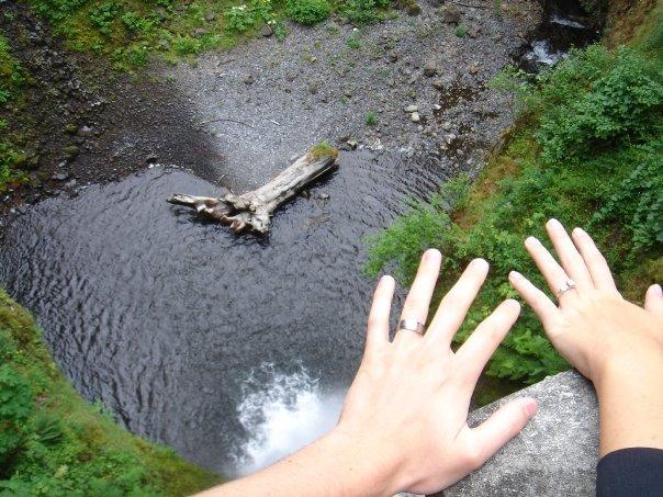 rings over multnomah falls