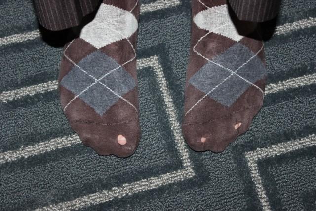 chelsea and ryan avery holes in socks