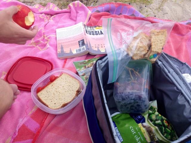 happy wife blue lagoon lunch