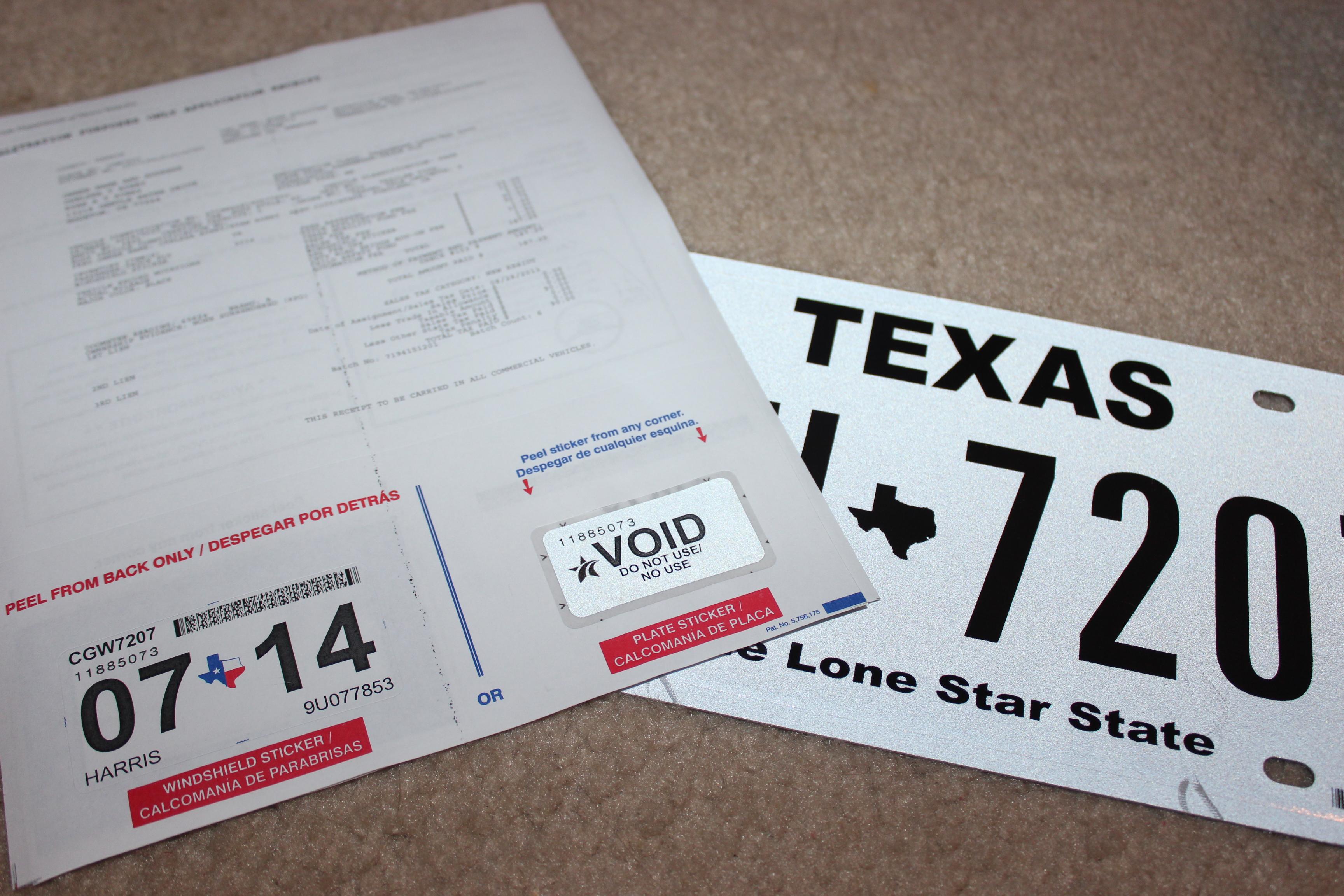 Houston blog texas plates