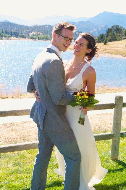 wedding chelsea laughing