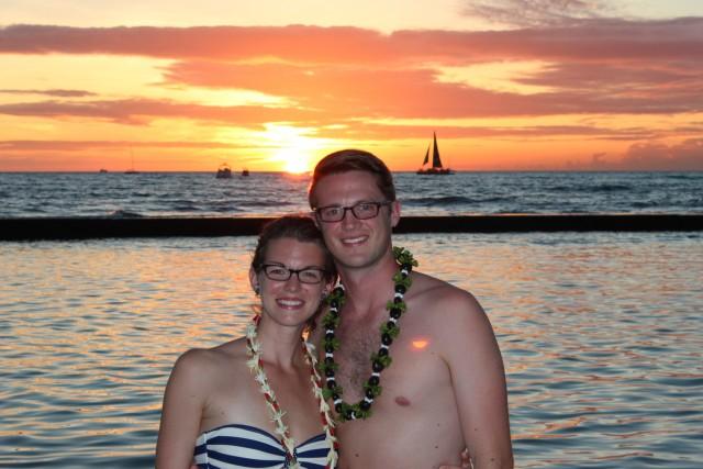 couples blog ryan avery chelsea avery sunset in hawaii