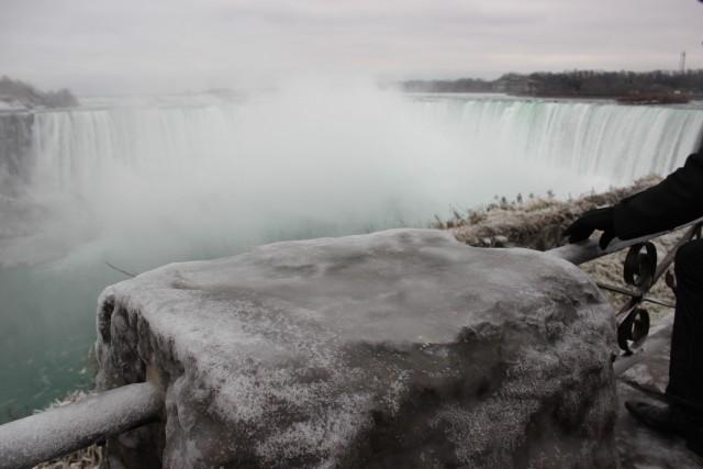 niagara falls ice block