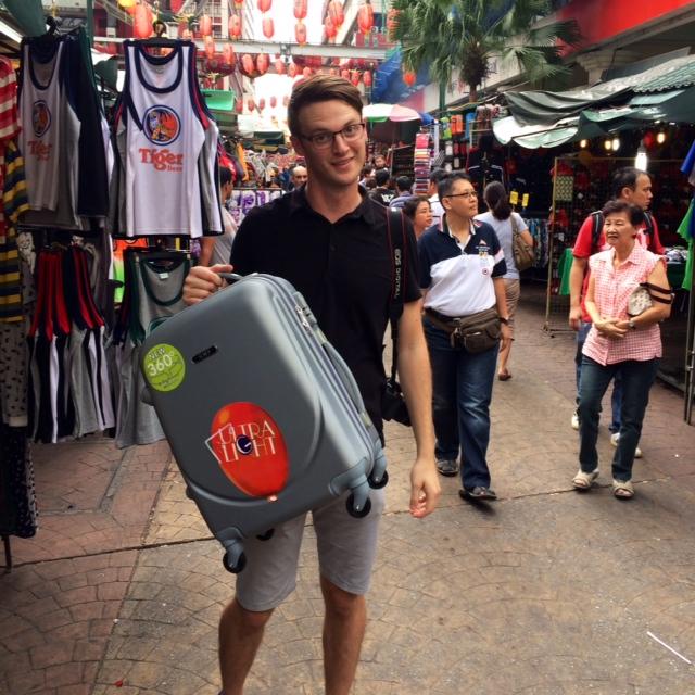 malaysia travel ryan suitcase