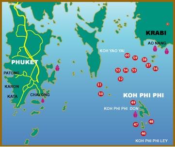 mapPhuket ko phi phi
