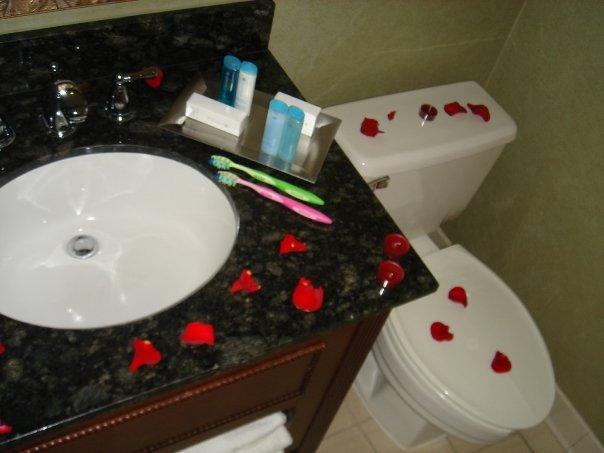 proposal rose petals