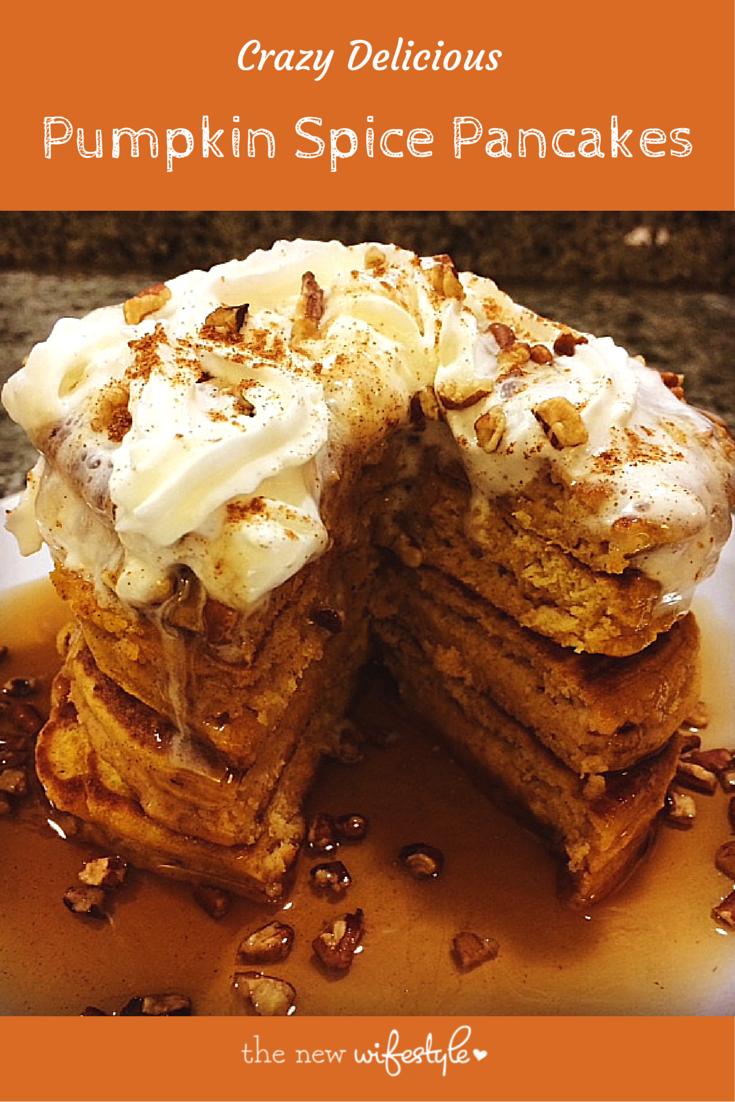 Pumpkin Spice Pancake Recipe header