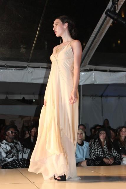 portland fashion week bride simple dress
