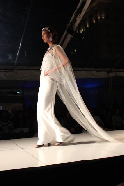portland fashion week bride veil