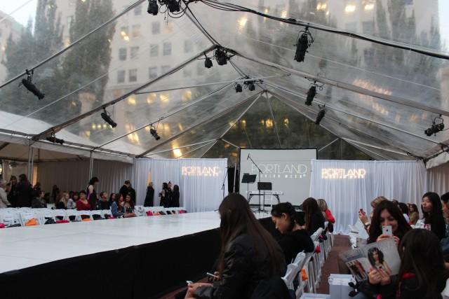 portland fashion week tent view