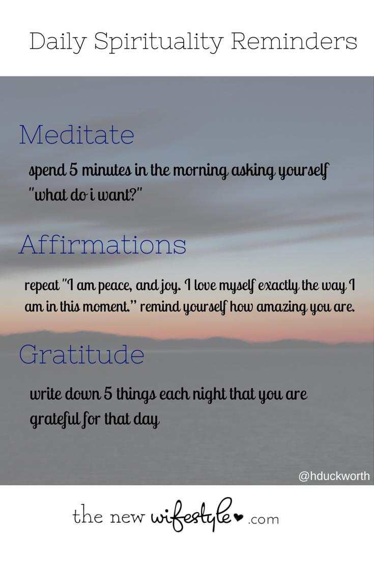 new spirituality reminders