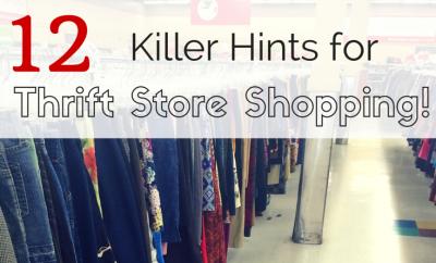 Tips for Thrift Store Shopping