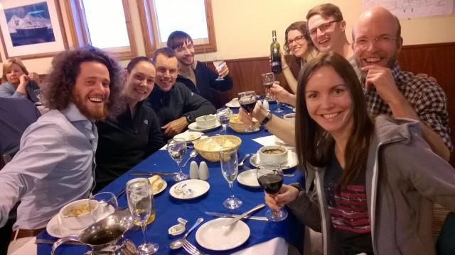 antarctica friends - last dinner!
